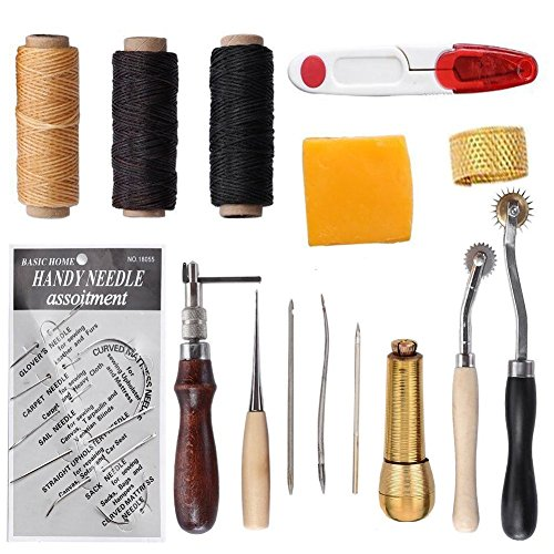 S.D.Maket Leder Werkzeuge Set Handwerkzeuge Couture Leder Handwerk Handnähen Tool Set (Typ 1) -