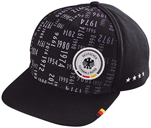 DFB 4 Sterne Fussball WM Deutschland Fan Cap Kappe Einheitsgröße Ons (Schwarz)