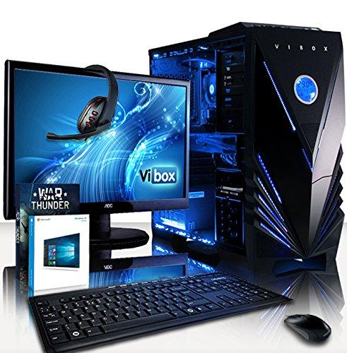 VIBOX Fusion PC Pacchetto 10 - 4,3GHz AMD FX CPU 4-Core, R7 360 GPU, Avanzato, Dekstop Gaming PC con Esclusivo WarThunder Gioco Voucher Bundle, 22