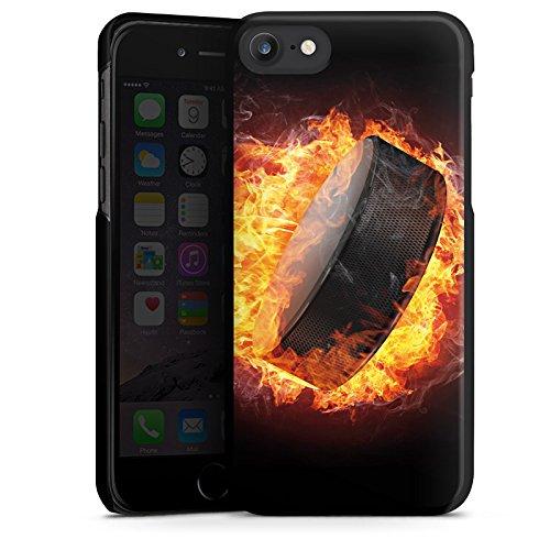 Apple iPhone 5s Silikon Hülle Case Schutzhülle Eishockey Flammen Slapshot Hard Case schwarz