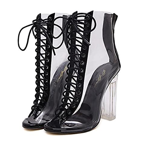 ZCH ladies high heels fish mouth Open toe thick heel
