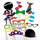 Lnkey shop 22 piezas Accesorios para Photocalls Photocall Party Set Photocalls Papel de Cartulina con Palillo Decorados para fiestas Decorativo Para Fiesta Boda Cumpleanos