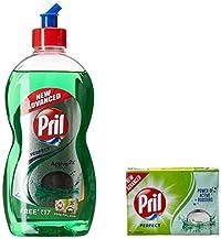Pril Dish Washing Liquid - 500 ml (Green) with Soap, 200 g