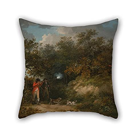 Peinture à l'huile George Morland–Faisan vue Couvre-lit Taie d'oreiller 45,7x 45,7cm/45par 45cm pour banc, salle d'étude, Sol, son fils, salle de manger, DE SOL avec 2Côtés