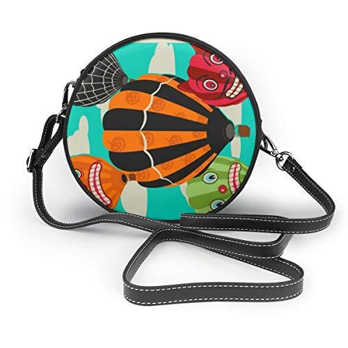Handbags For Women,Halloween Hot Air Balloons PU Leather Shoulder Bags,Tote Satchel Messenger Bags