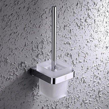 XYZHF * Finition chrome contemporain en laiton et inox brosse wc murale vitrée Cup