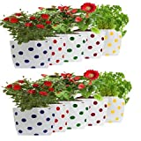 #6: Set of 10 premium colourfull Dotted Grow Bags (20*20*35 cms)