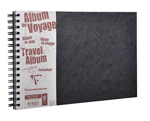 Clairefontaine 781061C Reisealbum (DIN A4, 21 x 29,7 cm quer Age Bag liniert, 40 Blatt) schwarz