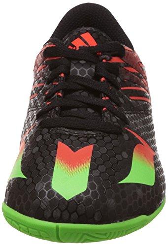 adidas Messi 15.4 In J, Chaussures de Football Mixte Bébé Noir - Schwarz (Core Black/Solar Green/Solar Red)