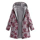 Damen Herbst Winter Jacke Parka Mäntel Steppjacke Übergangsjacke mit Kapuze Hoodie Warm gefüttert Vintage Fleece Dicke Wollmantel Pelzmantel Outwear von Innerternet