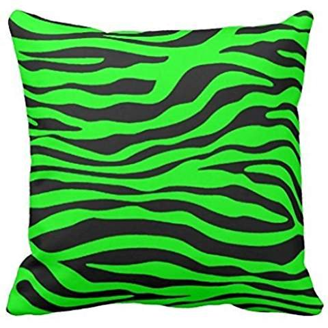 Electric Green Zebra Stripes Animal Print pillowcase Pillow shams case Cushion Cover 1616 - Green Zebra Animal Print