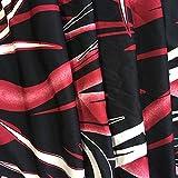 YAN Bodycon Rock der Frauen, der Mehrfarbendruck-hoch taillierte Rock-Frühlings-Strand auswarf, warf Maxi-Röcke für Frauen 2018 neue Frühlings-Sommer-Röcke aus (Color : Rot, Größe : S)