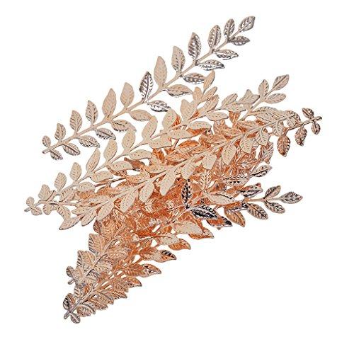 Sharplace 10 pcs Lange Blatt Zweig Form Schmuck Machen Erkenntnisse - Roségold