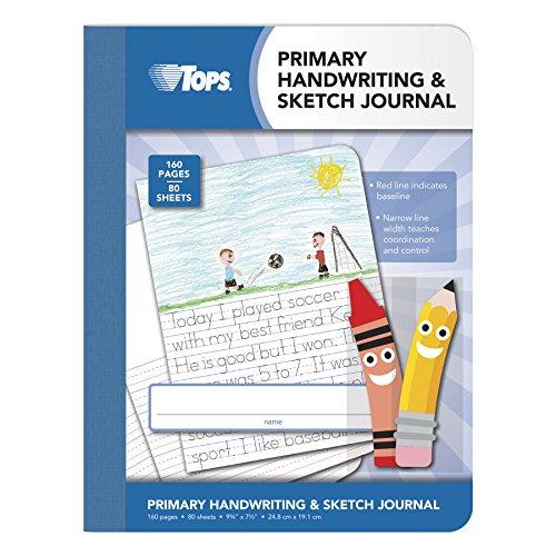 Tops Handschrift und Sketch Journal für die Grundschule, 80Blatt, 93/4x 71,3cm (63785) (Notebook Paper 7 X 9)