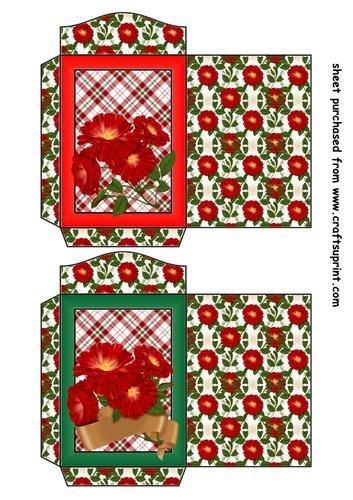 Feuille A4 pour confection de carte de vœux - 2 Wild red rose seed packets 2 par Sharon Poore