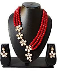 Catalyst Designer Collection Exclusive Faux Pearl Necklace With Earrings For Women
