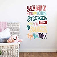 Colorful Inspirational Lettering Quote Wall Decal-You