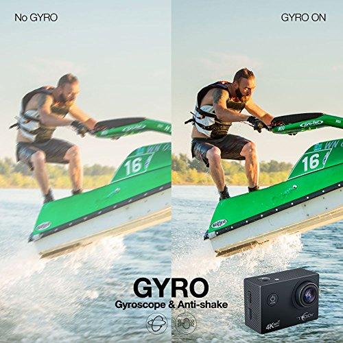 Topjoy Sport Action Kamera TJ5000 4K 16MP Unterwasser Action Kamera mit NTK96660 Chipsatz Sony IMX078 Sensor Gyro WiFi HDMI & AV Out Action Cam für Tauchen Fahrrad Skifahren - 3