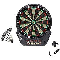 Topwill Tablero de Dardos Eléctrico, Diana Electronica con Pantalla LED, Incluye 6 Dardos, 27 Juegos y 243 Variantes para 16 Jugadores