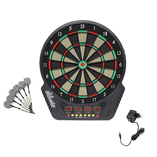 Topwill Elektrisches Dartboard, Dartscheibe Elektronisch E Dartboards Dartautomat mit LED-Anzeige, Inklusive 6 Dartpfeile, 27 Spielen und 243 Varianten für 16 Spieler