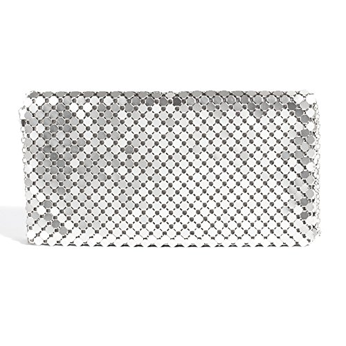 Parfois - Clutch - Party Pochette Big Mesh - Donne Argento