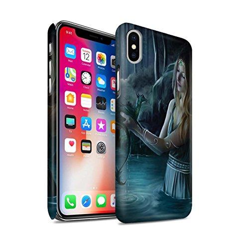 Offiziell Elena Dudina Hülle / Matte Snap-On Case für Apple iPhone X/10 / Feuer Kleid Muster / Drachen Reptil Kollektion Wasser/Baby