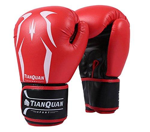 Boxen - Kickboxhandschuh volle Finger-Handschuhe -MMA 2 ---- Red