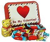 Caja de Almuerzo Regalo San Valentin con Kinder Chocolate y Lindt Teddy, 240g