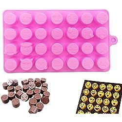 Emoji molde de silicona para hornear tartas, moldes de silicona para magdalenas, moldes de jabón hechos a mano, herramienta de bricolaje