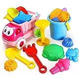 WEIZQ Sandspielzeug Kinder, 20er Set Kinder Sandspielzeug Sandstrand Fahrzeug Strand-Werkzeuge Set für Kinder
