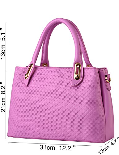 Menschwear Damen Handtasche Marken Handtaschen Elegant Taschen Shopper Reissverschluss Frauen Handtaschen Lila Lila