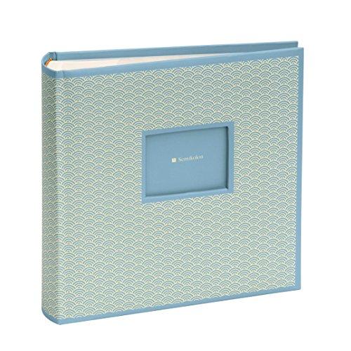 Semikolon (354788) 200 Pocket Album Seigaiha-Muster ciel (hell-blau)   Foto-Buch mit Einschubtaschen für insgesamt 200 Bilder im Format 10 x 15 cm