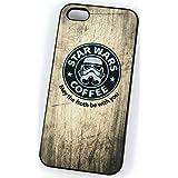 Star Wars Stormtrooper café Starbucks parodia (iPhone 5/5S Negro Plástico Duro Funda/Cubierta)