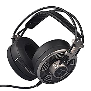 Powpro V10 Gaming Headset 7.1-channel vibrazioni cuffie da gaming per Xbox Smart Phone laptop/tablet Large1 Nero