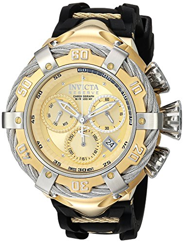 Invicta Men's 'Bolt' Quartz Stainless Steel and Silicone Casual Watch Color:Beige (Model: 21366) image