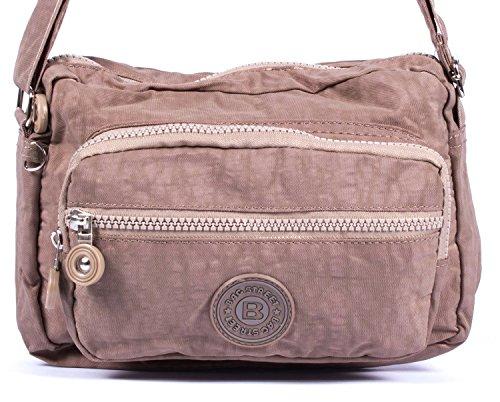 Borsa sportiva a tracolla/a mano, in nylon, stone-coloured (grigio) - a2040057-3