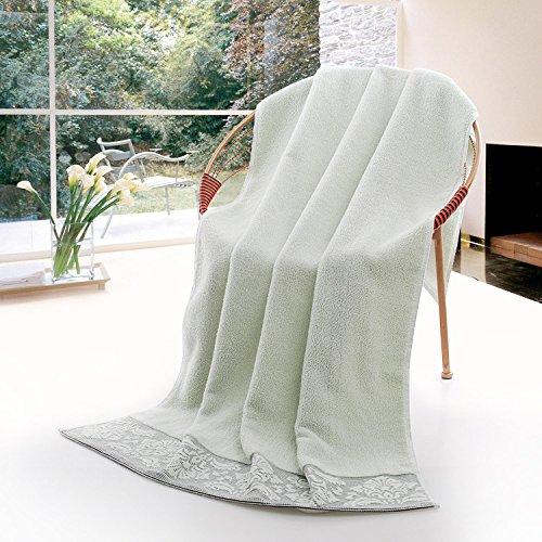 Reine Baumwolle große Badetücher erwachsene Männer und Frauen mit der Brustwand Paare, wickelte Wasseraufnahme, Fussel, Grün Grün