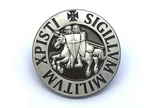 Patch Nation Sigillum Militum Xpisti Ritter Templer Kreuzritter Runde Revers Pin Badge (Templer Kleidung)