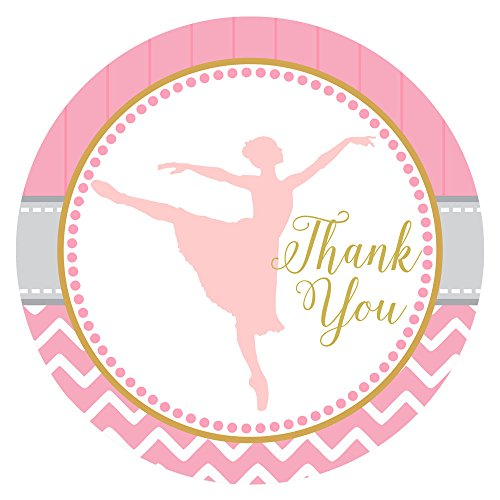 Adorebynat Party Decorations - EU Tanzen-Ballerina danken Ihnen Aufkleber Aufkleber - Geburtstags-Babyparty Ballett Recital Party - Set 30 (Beute Tanz Kostüm)