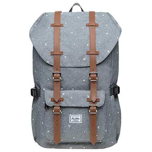 """KAUKKO Schulranzen Damen Herren Studenten 18 Zoll Backpack für 13\"""" Notebook Lässiger Daypacks, 47 * 28 * 16cm, 19L, Large"""