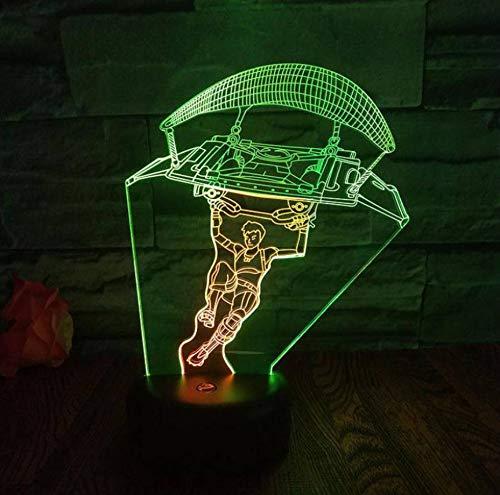 ed 3D Sieben Farbe Nachtlicht Touch Usb Und Batterie Netzteil Led Licht Party Dekoration Lampe ()