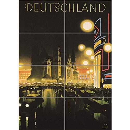 Doppelganger33 LTD Travel Tourism Berlin Germany Deutschland Vintage Advertising Wand Kunst Multi Panel Poster drucken 33×47 Zoll