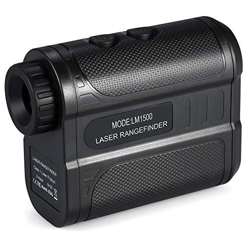 KKmoon Télémètre Golf 1500m, Télémètre Extérieur Portatif, 6x Grossissement Télescope Unique Pour le Golf, la Chasse Distance, Observation des Animaux, Compétition de voile, Précision ± 1 Mètre