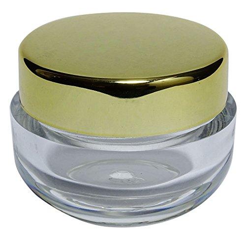 Lot de bocaux de plastique transparent de 100 x 22 Gm Contenants de stockage de cosmétiques vides rechargeables