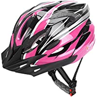 JBM Adult Cycling Bike Helmet Specialized for Men Women Safety Protection CE Certified Adjustable Lightweight Bicycle Helmet with Reflective Stripe and Removal