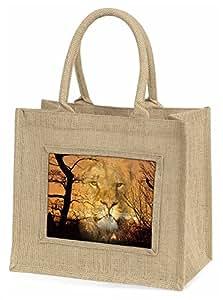 Advanta Löwe Spirit Watch große Einkaufstasche/Weihnachten Geschenk, Jute, beige/natur, 42x 34,5x 2cm