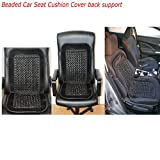 Universal Beaded Car Seat Cushion Comfortable Back massage Wooden Bead Cover Van (Black Beaded Car Seat Cover)