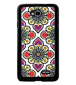 PrintDhaba Floral Design D-2045 Back Case Cover for LG L90 (Multi-Coloured)