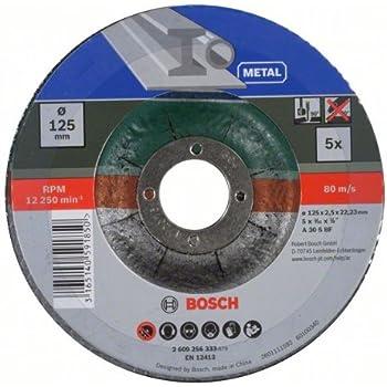 Bosch Trennscheiben-Set 5tlg. (Metall, Ø 125 mm, für Winkelschleifer)