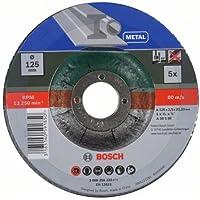 Bosch 2609256333 Mole Taglio Metallo, Centro Depresso, Pacco da 5 Pezzi, Multicolore, 125 x 22.23 x 2.5 mm